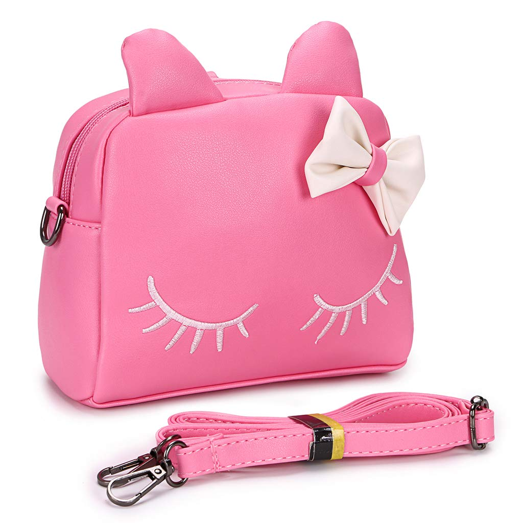 b636c676b798 BTSKY PU Little Girls Crossbody Shoulder Bag - Cute Messenger Bag Purses Bag  Snack Bag Backpack for Toddler Kids