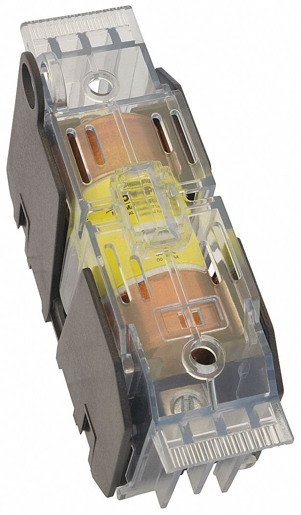 Fuse Block Cover, Nonindicating, 31 to 60 Amperage Range, 600VAC Voltage Rating
