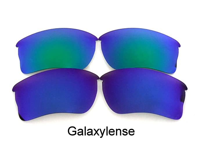 6bf41bec75 Galaxy Replacement Lens For Oakley Quarter Jacket Sunglasses Blue Green