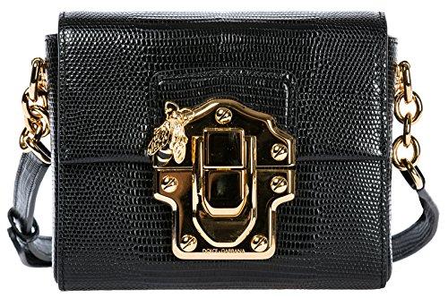 - Dolce&Gabbana women's leather cross-body messenger shoulder bag lucia black