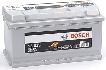 Bosch-S5013 Batteria Silver Auto 100A/h-830A: Amazon.it: Auto e Moto