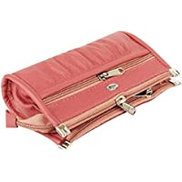 Kavi's Quality PU Leather Women's and Girls Wallet Clutch Purse Handbag (Pink)