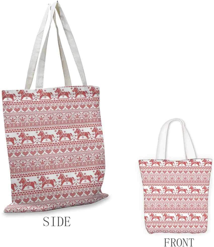 35cmx40cm Gift bag sundry bag Festive Knitted Pattern with Chevron Herringbone Abstract Snowflake Eco Friendly Large Shopping Bags 13w x 16h