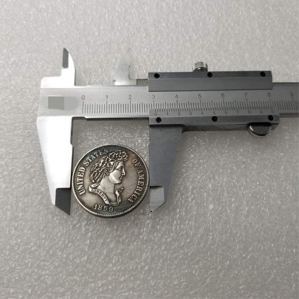Gran Moneda Conmemorativa Estadounidense YunBest 1859 Moneda de 50 centavos de Libertad Antigua Monedas Antiguas de Estados Unidos Estado Original pre Morgan sin circulaci/ón BestShop