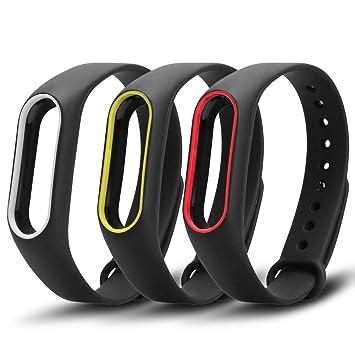 Correa de repuesto de color e impermeable para reloj inteligente Xiaomi Mi Band 2 (no incluye el rastreador de actividad), de Awinner: Amazon.es: ...