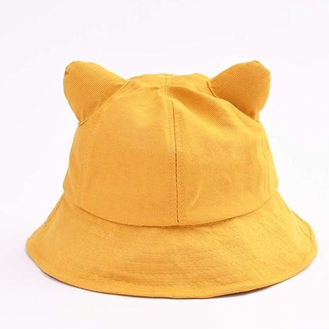 e105ebc7 XUEBAOBAO Beach Seaside Spring Summer Cute Cat Ears Fisherman Hat Boy Girl  Child Sun Hat Vacation