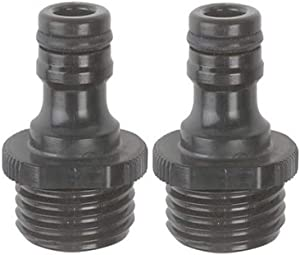 Gilmour 29QM Male Hose End Quick Connectors, Black