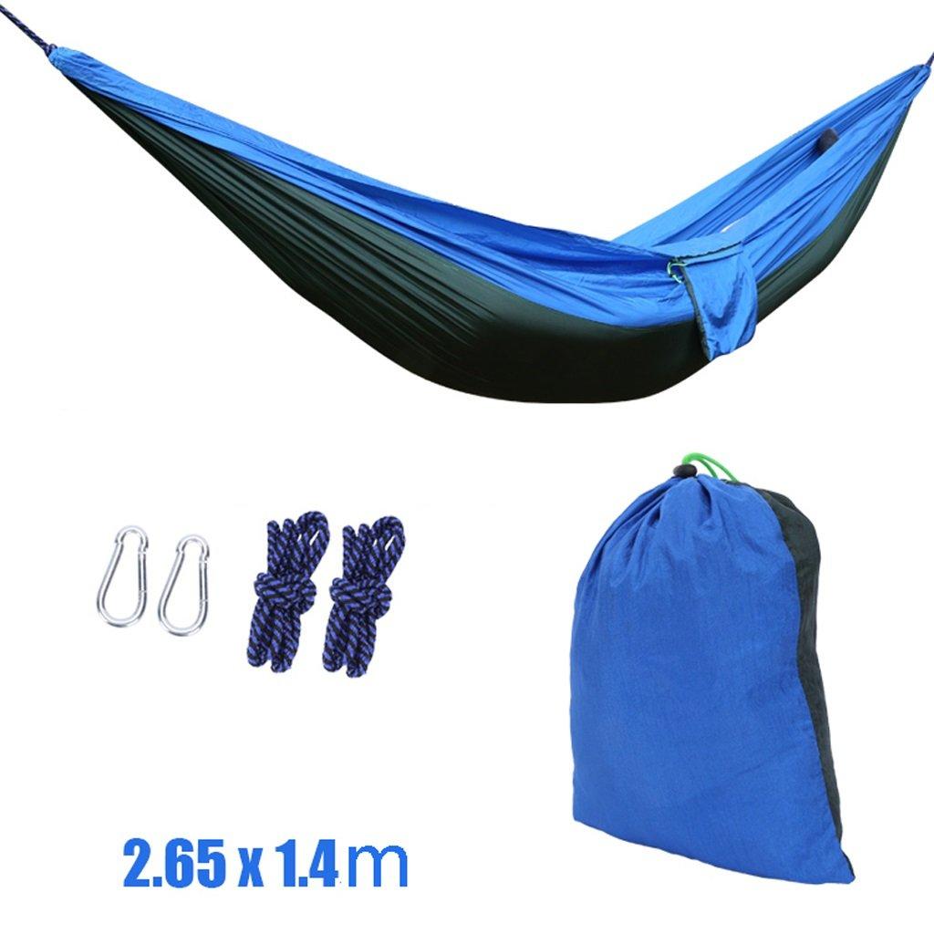 il più recente DNSJB Amaca Amaca Amaca da Giardino, Amaca da Campeggio Portatile da Viaggio con Paracadute (colore   Blu)  bellissimo