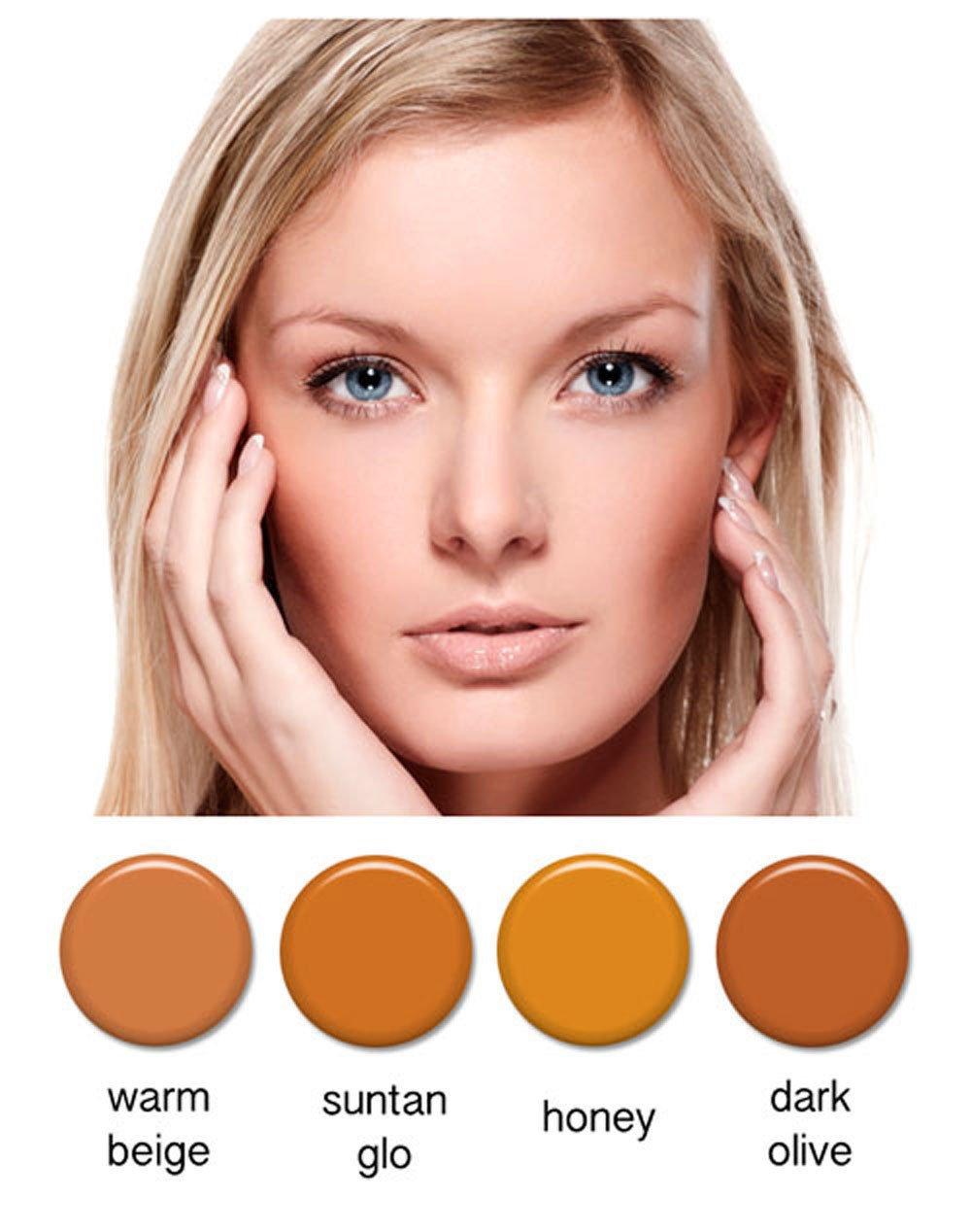 Art of Air 4pc MEDIUM complexion Professional Airbrush Cosmetic Makeup Set 1/2 oz bottles