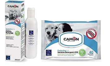 Camon Toallitas Aceite de Neem y lavanda & champú Aceite de Neem para perros