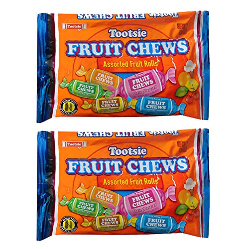 Tootsie Fruit Chews Assorted Fruit Rolls -- Pack of 2 Bags (11.66 Oz Total) (Pack of 2) ()