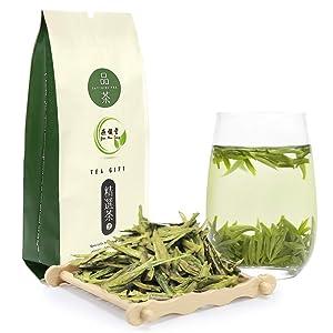 Yan Hou Tang Organic Chinese Green Tea Longjing West Lake Dragon Well Loose Leaf Leaves 100 Gram Delicious Ecologically Grown Afternoon Tea
