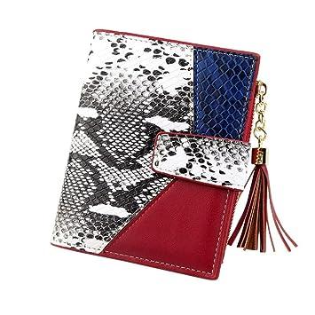 80591c975e0245 ❤️Sunbona Card Holder Wallet Women Leopard Print Snake Cute Fashion Purse  Tassel Wallet Coin Card