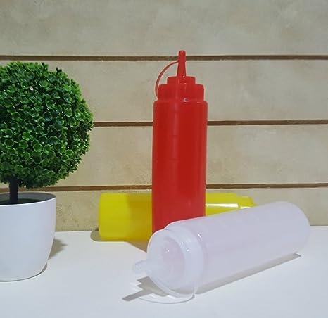 philna12 plástico dispensador tapa condimento aceite Ketchup Squeeze 360 ml Botttle (rojo)