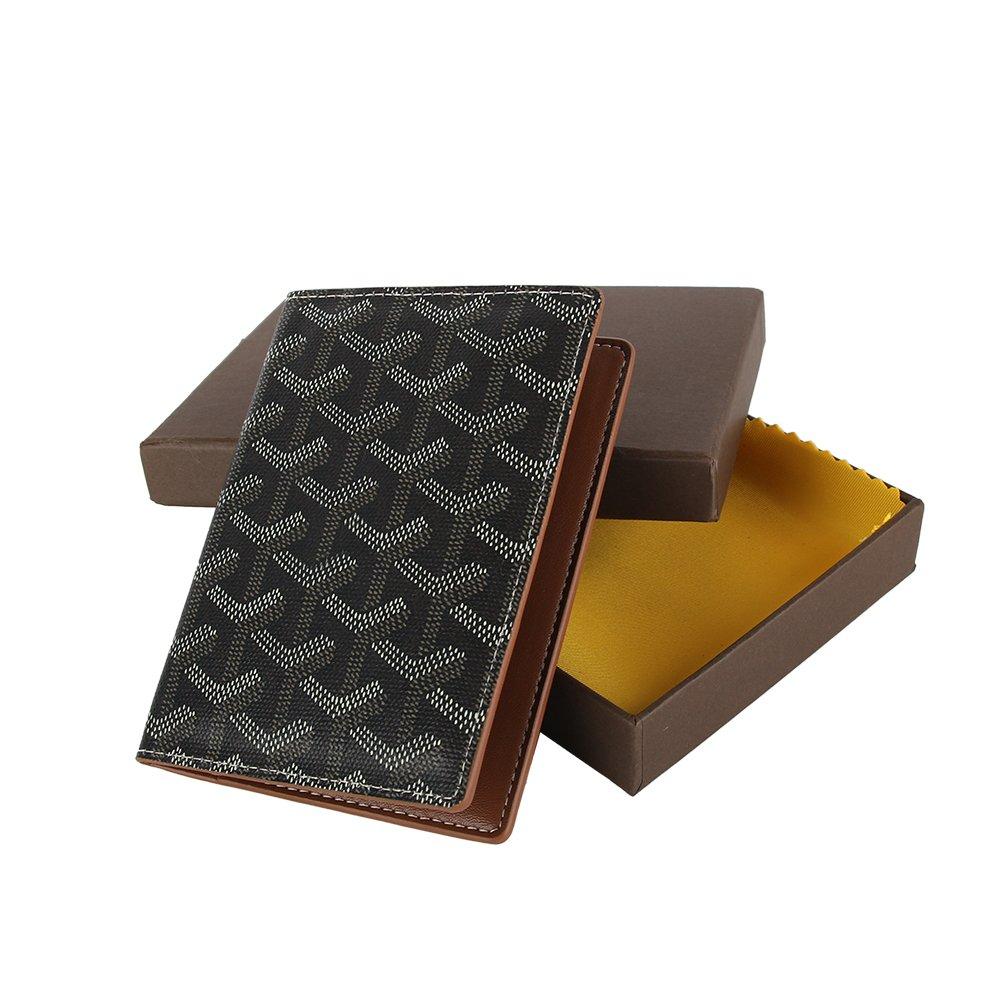 Stylesty Designer Passport Holder Travel Wallet,PU Leather Passport Cover/ Case for Men & Women (black brown)