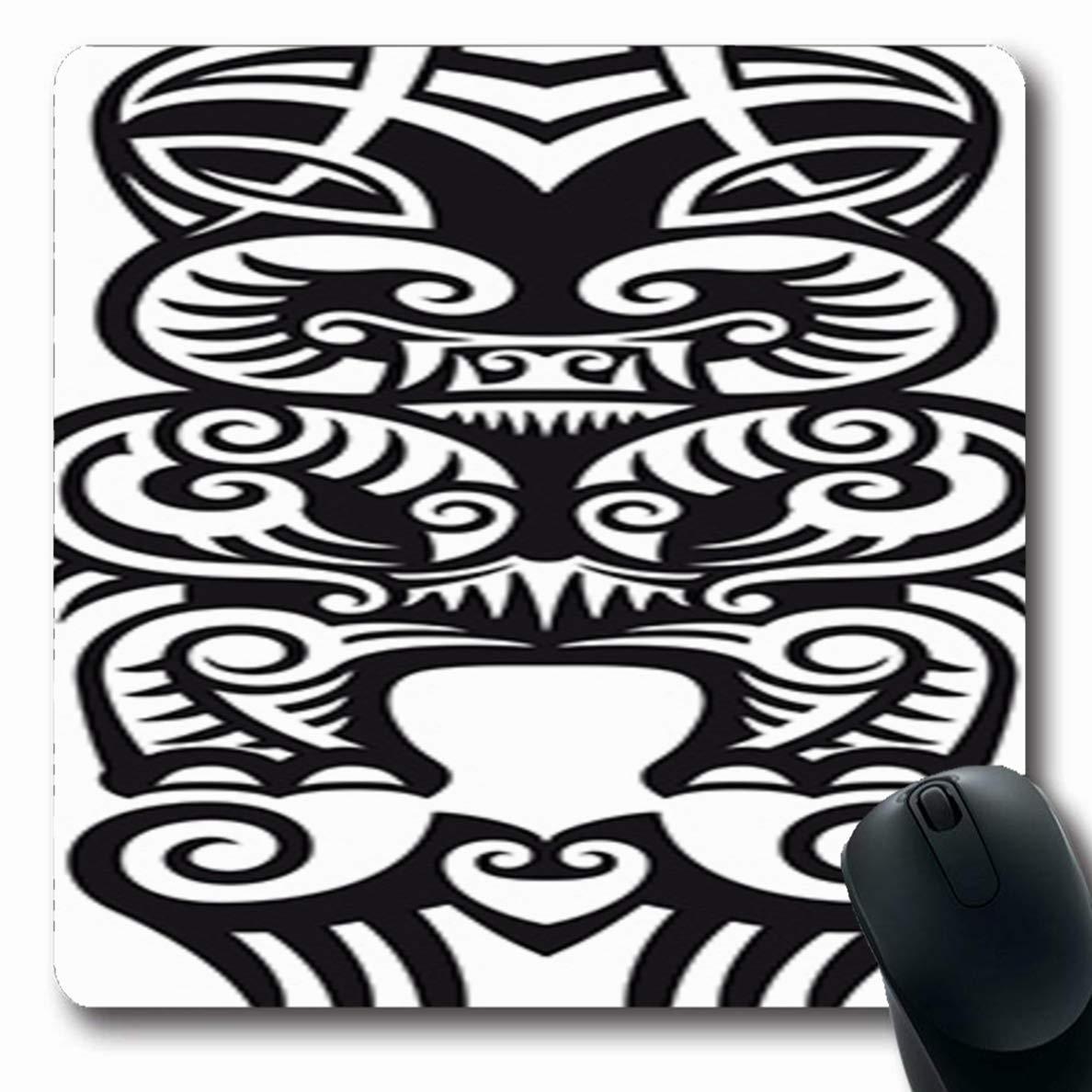 Mousepad Ostruo monstruo polinesio Taniwha estilo maorí tatuaje ...
