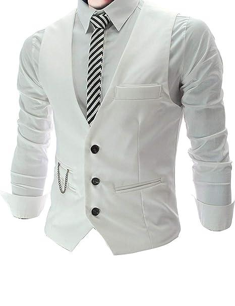 f758572a4c Chaleco Casual De Hombre De Negocios para Ropa Boda Hombres para Chaleco De  Traje De Ocio Chaleco De Vestir Chaleco De Hombre Slim Fit con Cuello En V   ...