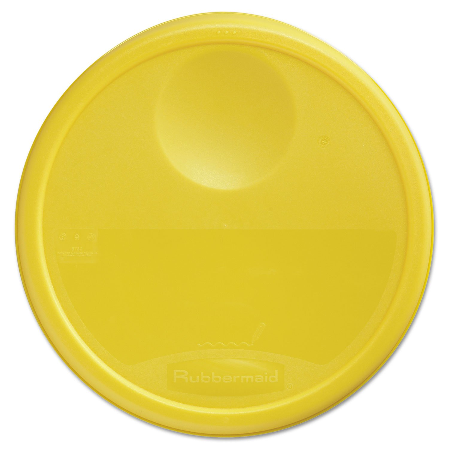 Rubbermaid Commercial 5730YEL Round Storage Container Lids 13 1/2 dia x 2 3/4h Yellow by Rubbermaid Commercial