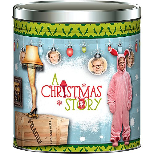 A Christmas Story 24 Oz Popcorn in Large Movie Theme Tin
