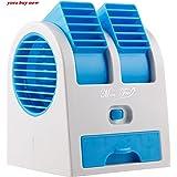 YORA Mini-Portable-USB-Air-Cooler-Portable-Desktop-Dual-Bladeless-Fan-Air-Pack