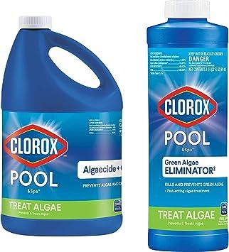 Clorox Pool&Spa 43128CLX 42128CLX Pool Algaecide & Green Algae Eliminator2 32 oz