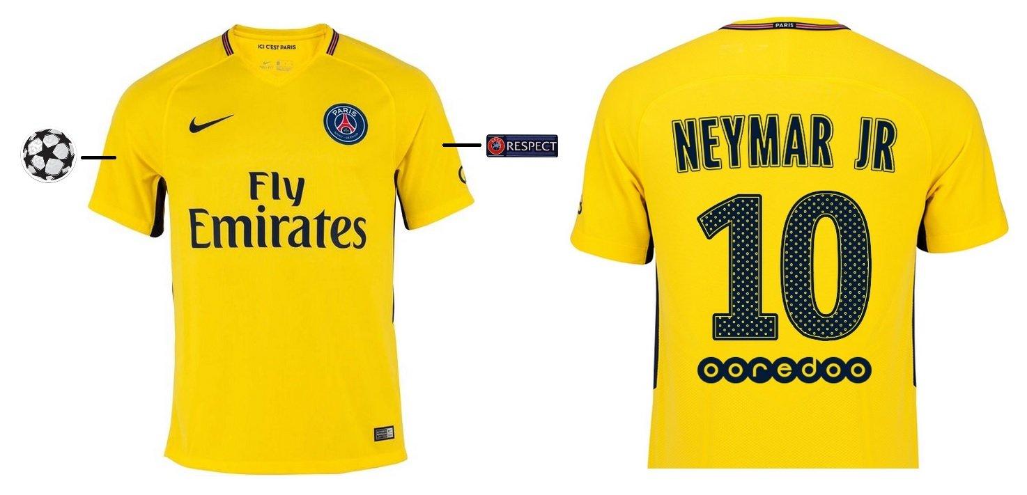 Trikot Kinder Paris Saint-Germain 2017-2018 Away UCL - Neymar Jr 10