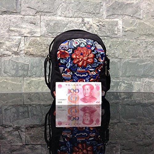 de Broder à en Girl BISSER Fille brodée rétro Ethnique Style décontractée Bisser Sac Toile à Jin Nian Sac bandoulière manière Original Petit Pratique ZvCPZw