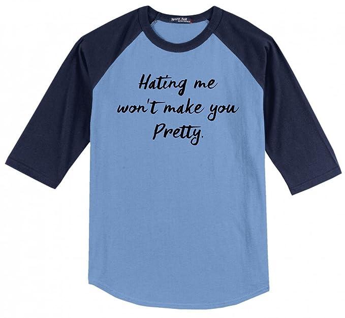 814848d8c78fda Amazon.com  Comical Shirt Men s Hating Me Won t Make You Pretty 3 4 ...