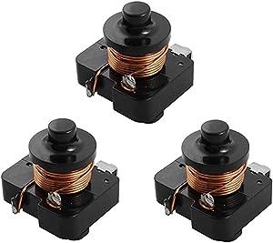 XMHF 1/3HP Refrigerator Coil Compressor Relay Starter 3Pcs