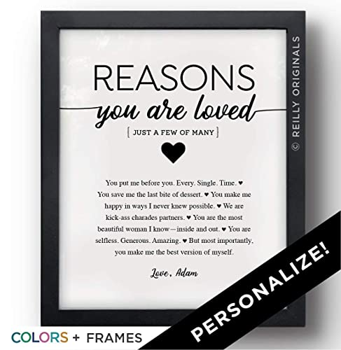4b3c7a05c3215 Unique Personalized Gift Valentine s Day Birthday Reasons You re Loved  anyone Things I love about you Friend Mother Father Grandmother Grandfather  Aunt ...
