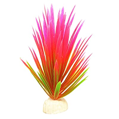 Hemgk Aquatic Plants, Aquarium Landscaping, Simulation of Plastic Watergrass Decoration Water Plants, Fish Tank Decor Waterweeds, w/Weighted Base, Durable, for Freshwater, Saltwater, Ponds : Garden & Outdoor