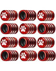 Tire Valve Stem Cap Cover - (12 Pack) Tire Air Caps Metal with Plastic Liner Corrosion Resistant Leak-Proof for Car Truck Motorcycle SUV and Bike