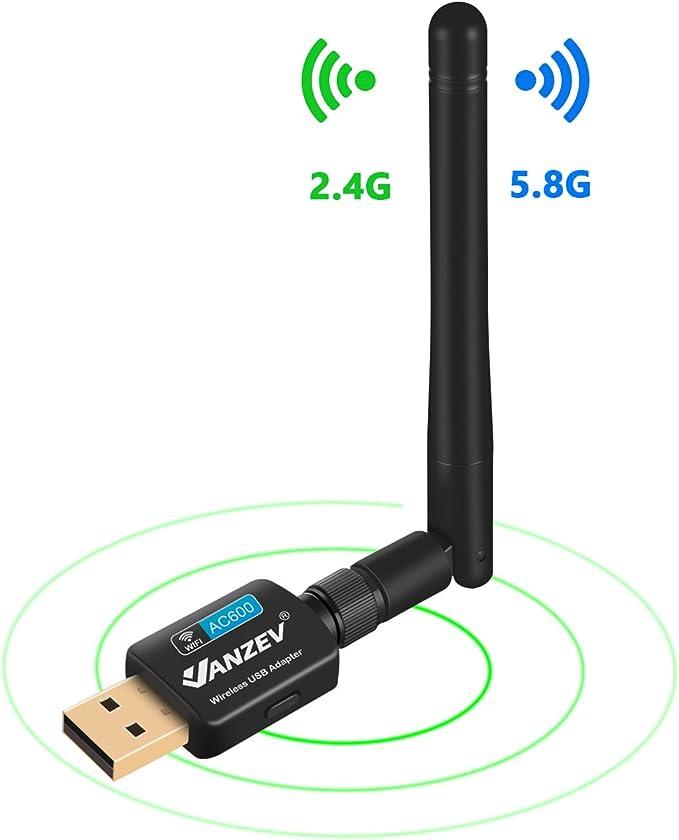 VANZEV Antena Wifi para PC Sobremesa USB 5G & 2.4G Hz ...