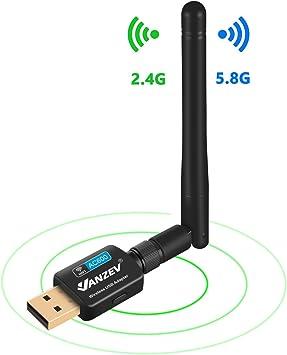 VANZEV Antena Wifi para PC Sobremesa USB 5G & 2.4G Hz, Doble ...