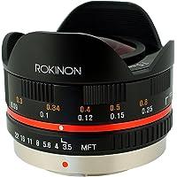 Rokinon FE75MFT-B 7.5mm F3.5 UMC Fisheye Lens for Micro Four Thirds (Olympus PEN and Panasonic), Black