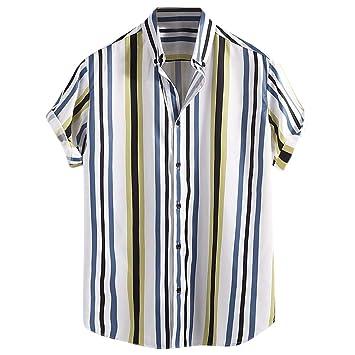Sunnyuk Camisa de los Hombres para Hombre Bolsillo en el Pecho ...