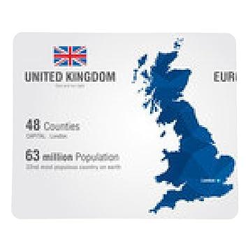 Mousepad United Kingdom world map. England map with: Amazon.de ...