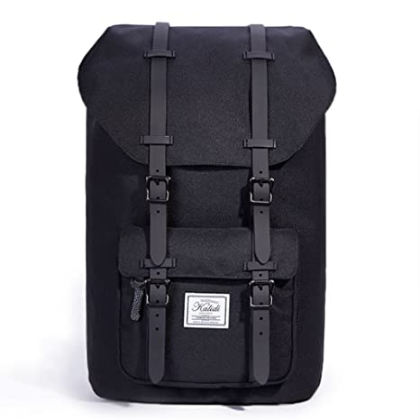 1ccf4b59a8e9 Laptop Backpack, KALIDI 17 Inch Hiking Backpack Travel Casual Daypack  School Bag for Women and Men (All Black)