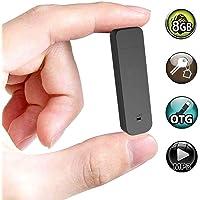 Mini Voice Recorder,8GB Sound Audio USB Small Recording Device,One Button Recording and Perfect Save (Black)