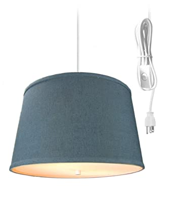 2 Light Plug In Pendant Light By Home Concept Hanging Swag Lamp