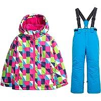 HOTIAN Windproof Girls Snow Jacket Fleece Winter Outerwear Hooded Ski Suit (Size US 4 - US 16)