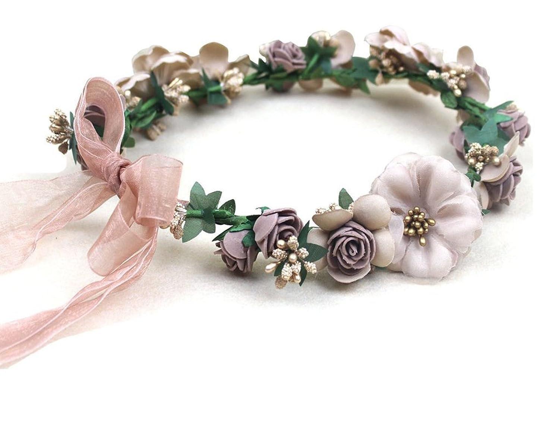 Floral Fall Music Festival Flower Crown Halo Hair Headpiece Wedding Headbands F-54