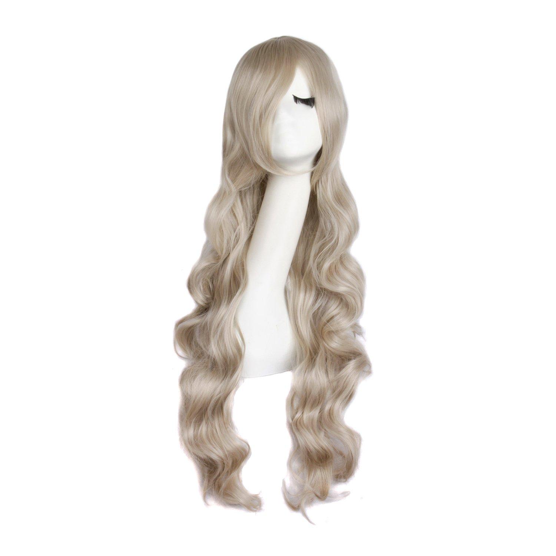 'mapofb eauty 32capelli lunghi spirale riccia parrucca di Cosplay Costume MapofBeauty
