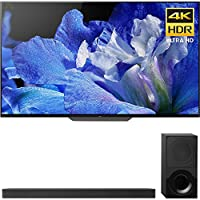 """Sony Bravia XBR65A8F 65"""" 4K HDR10 HLG Dolby Vision Triluminos OLED TV 3840x2160 & Sony HTX9000F 2.1Ch 4K HDR Compatible Dolby Atmos Soundbar with Bluetooth"""