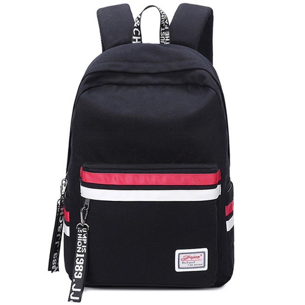 Laptop zaino donna Canvas scuola borse ragazza adolescente viaggio Outdoor Borsa a tracolla beige B025BE