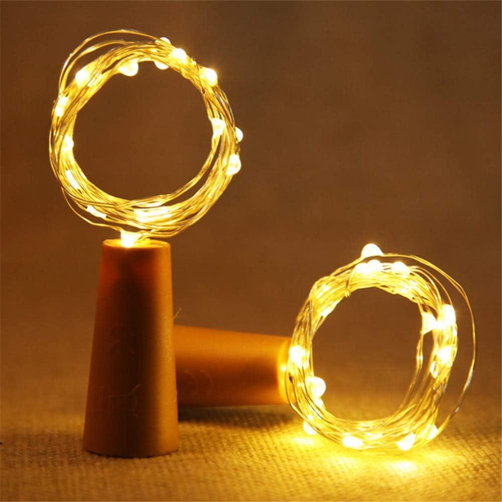 Navidad Luz de Botella Botellas de Vino Luces Alambre de Cobre Luces LED Electrónico Navidad Habitación Decoración de La Mesa 2m*2