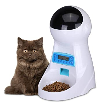 Dispensador comida gatos