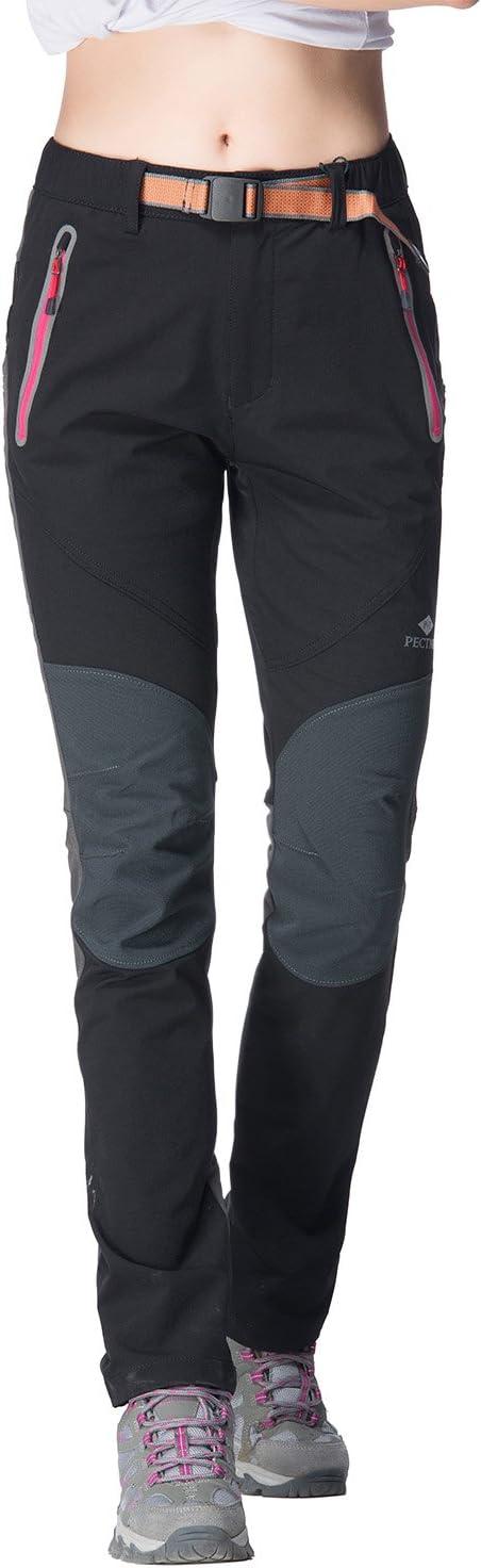 PECTNK Womens Outdoor SoftShell Trousers Elastic Waterproof Autumn Hiking