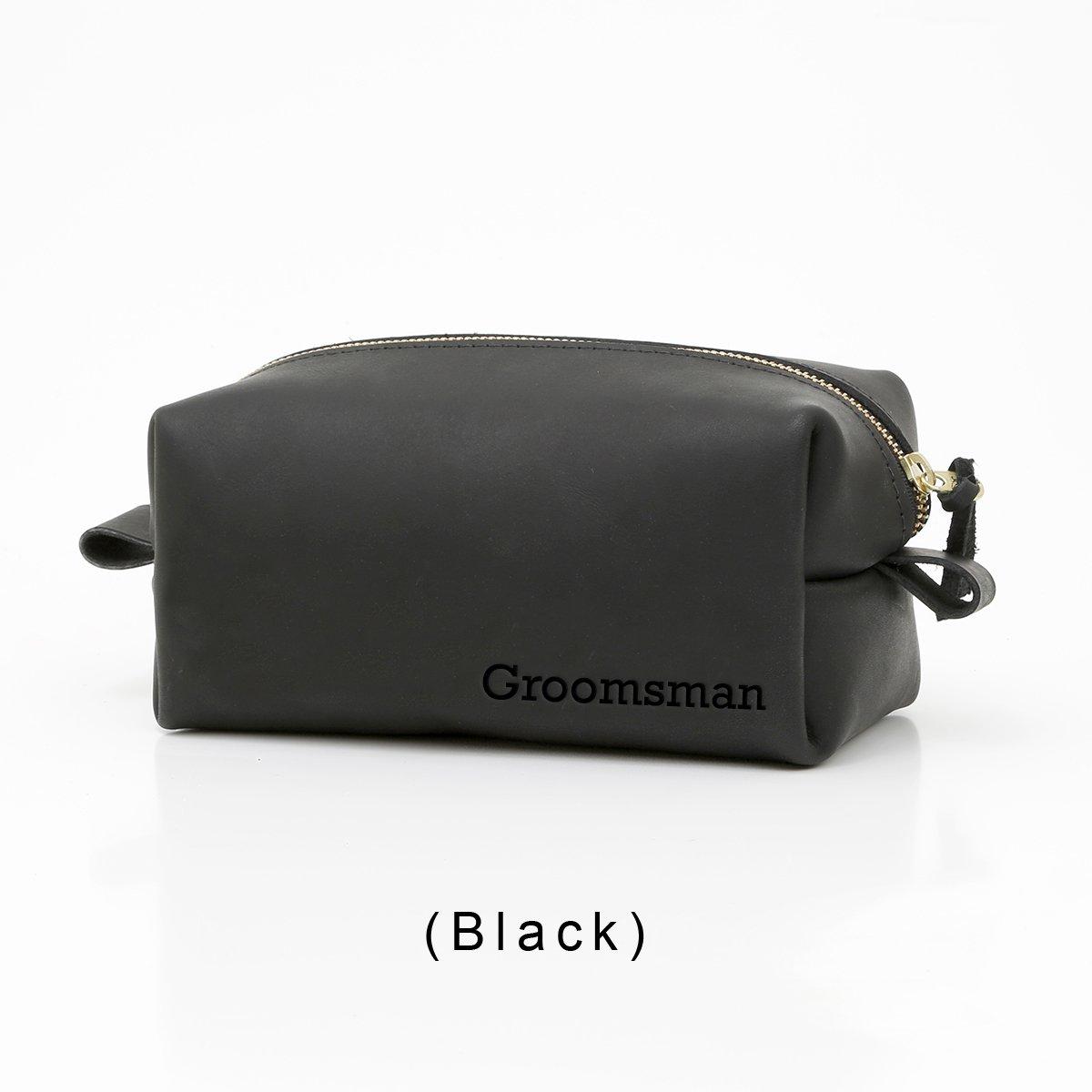 27c7e59ece8c Amazon.com   Personalized Leather Toiletry Bag