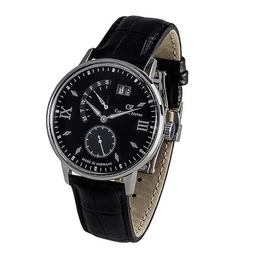 Leather WatchAmazon Von Zeyten Black Cvz0059bk Strap co Carl Men's 0wvmN8PynO
